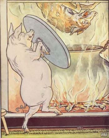 Illustration by L. Leslie Brooke, from The Golden Goose Book, Frederick Warne &#038; Co., Ltd. 1905